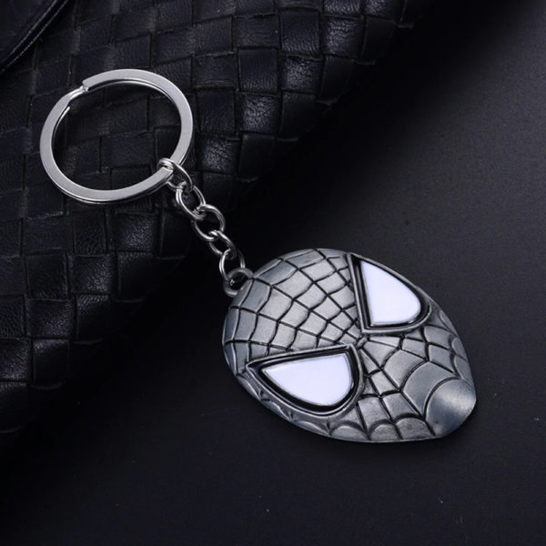 Spider Man Face Mask Key Chain