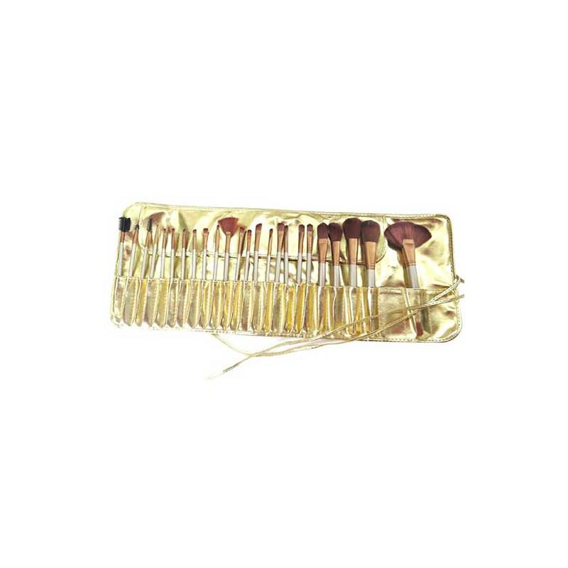 Professional Chocolate Gold Makeup-Brush Set