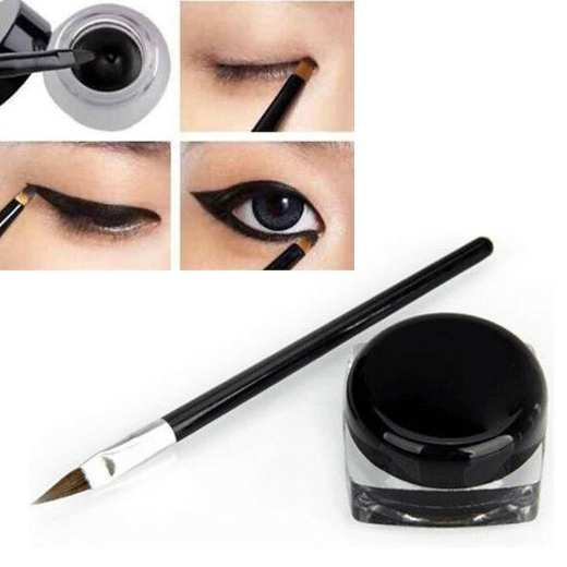 Waterproof Eye Liner Makeup Brush Black