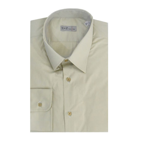 S & Z Italian Style Shirt White With Patterns (44 - 17 1/2 Inch)
