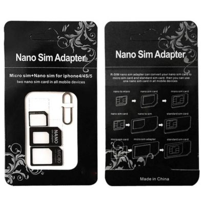 Nano Micro Standard SIM Card Adapter Kit