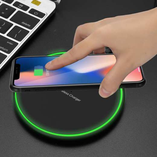 Qi 5W Wireless Fast Charger Charging Pad For Samsung Note 8 S9 IPhone X 8 Plus