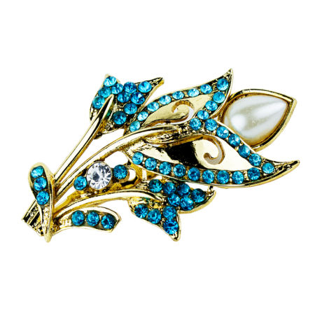 Womens Fashion Saree Pins With Blue Stones
