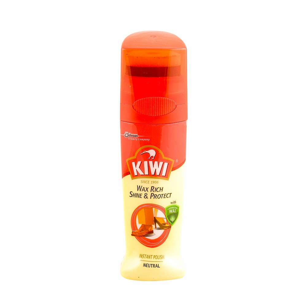 Kiwi Wax Rich Shoe & Protect Instant Polish Neutral 75mL