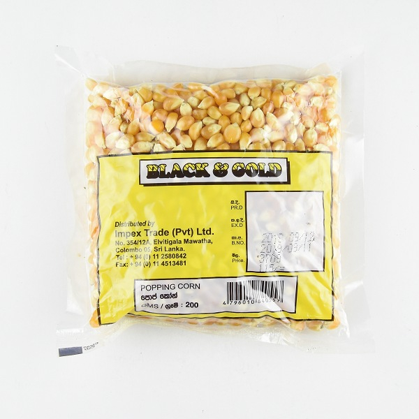 Black & Gold Pop Corn 200g