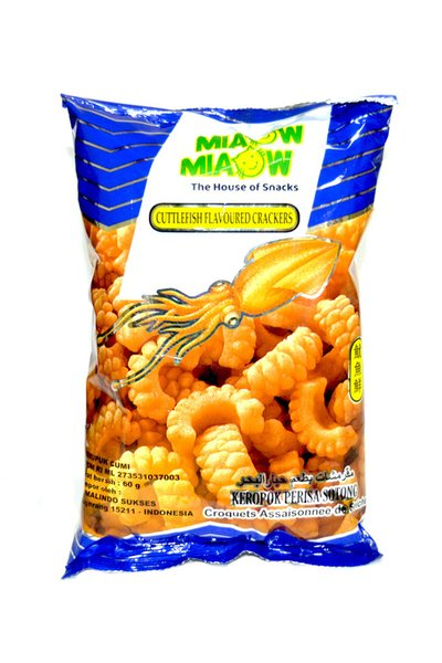 Miaow Miaow Cuttlefish Flavored Crackers 60g