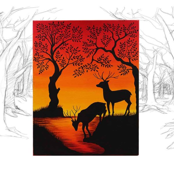 Canvas Art The Thirst Deer  GPF192