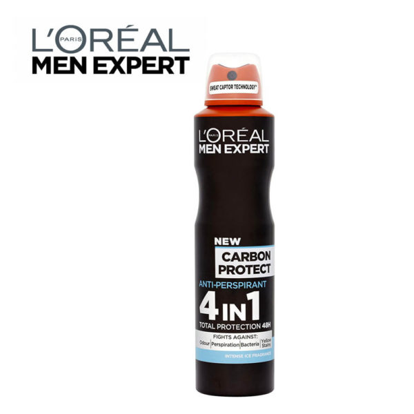 LOral Men Expert Carbon Protect Deodorant 250ml
