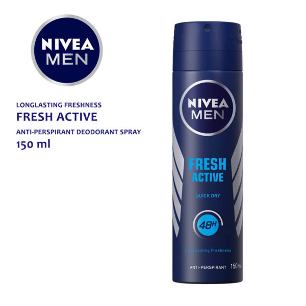 Nivea FRESH ACTIVE ANTI-PERSPIRANT DEODORANT SPRAY 150ML