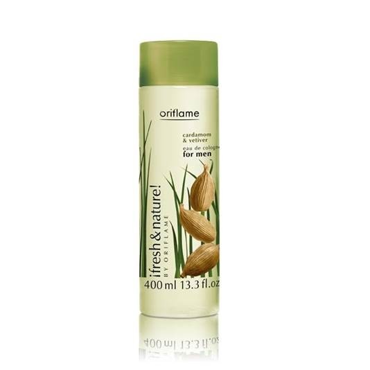 Oriflame Fresh & Nature Cardamom and Vetiver Cologne For Men 400mL