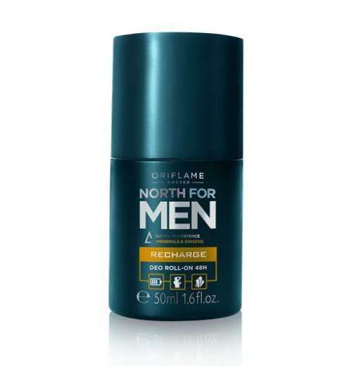 Oriflame North For Men Recharge Deo Roll-On 48H