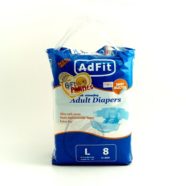 Adfit Adult Diaper L 8pcS