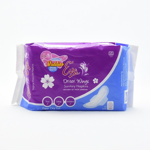 Eva Sanitary Napkins Dritex Wings 10s