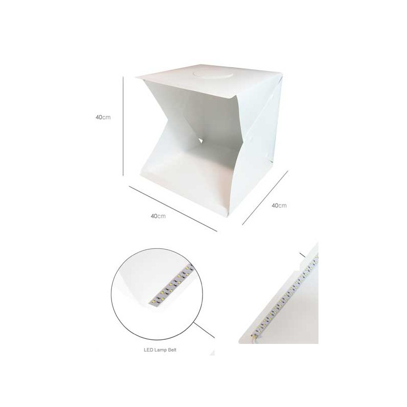 40 X 40 X 40cm Portable Folding Studio Light Box