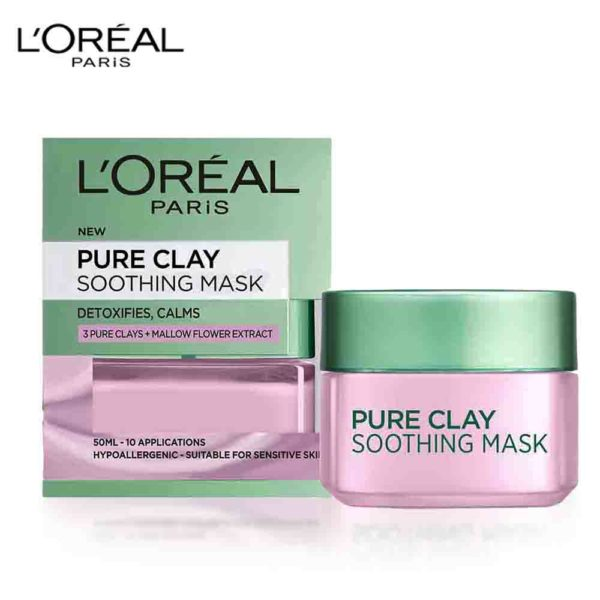 LOral Paris Pure Clay Soothing Face Mask 50ml
