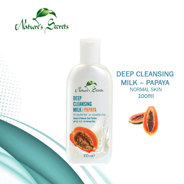 Nature's Secrets Deep Cleansing Milk Papaya 100ML