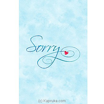 I Am Sorry Card