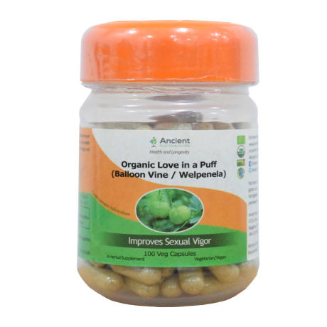 Ancient Nutraceuticals 100% Organic Love in A Puff (Welpenela/Balloon Vine) 100 Caps