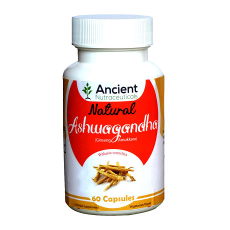 Ancient Nutraceuticals Natural Ashwagandha Capsules 60CAPS