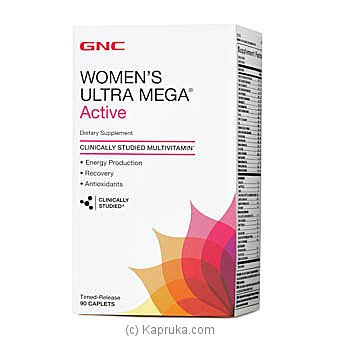 GNC Women`S Ultra Mega Active Multivitamin 90 Caplets