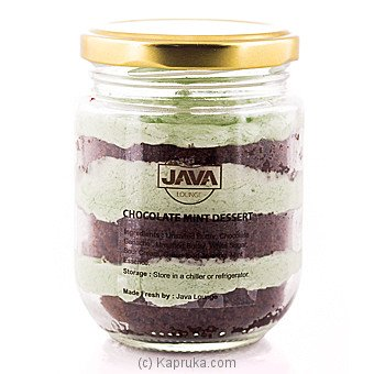 Java Lounge Chocolate and Mint Cake Jar