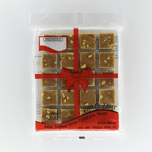 Premero Milk Toffee With Cashew Nuts 200g