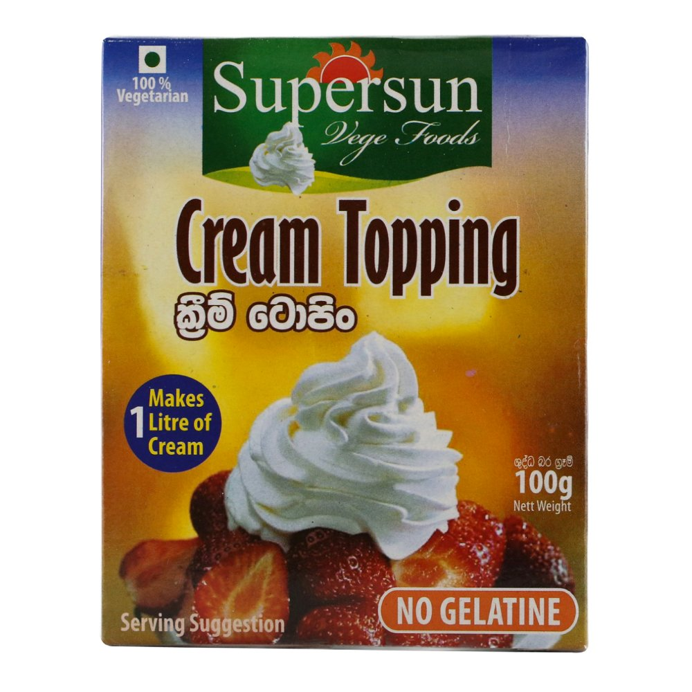 Supersun Cream Topping 100g