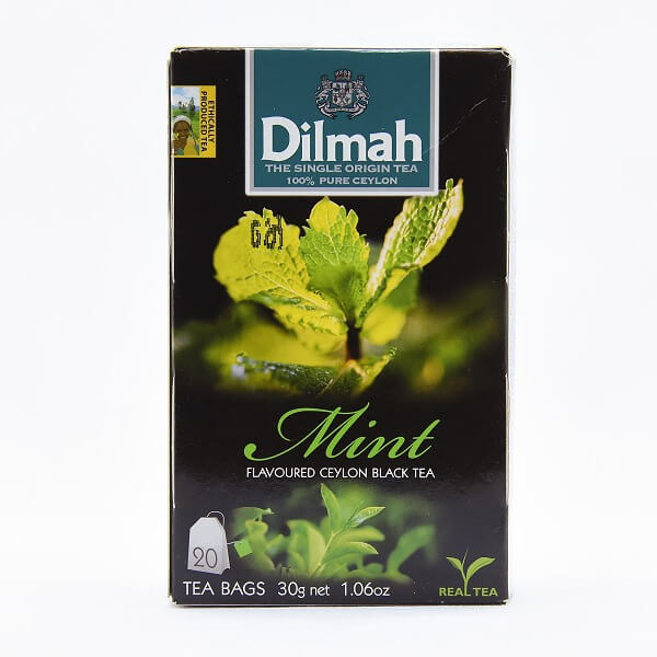 Dilmah Mint Flavored Black Tea Bags 20s 30g