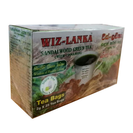 Wiz-Lanka Sandalwood Green Tea - 25 Tea Bags