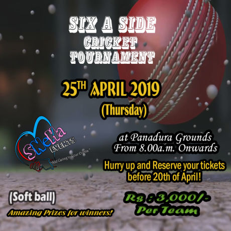 Six A Side Cricket Tournament (Soft Ball) Amazing Prizes For Winners!