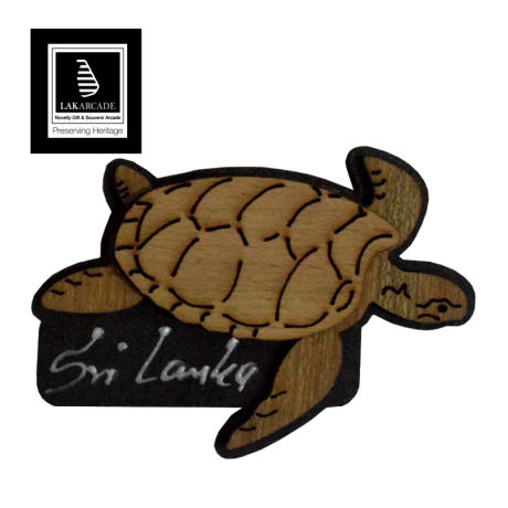 Lakarcade Wooden Magnet Turtle