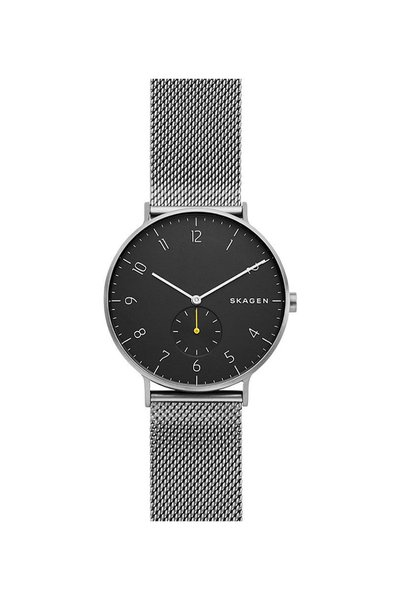 Skagen Aaren Dark Gray Steel Mesh Watch